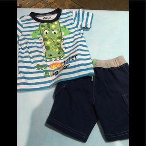 Boys alligator short outfit 18 months boyz wear
